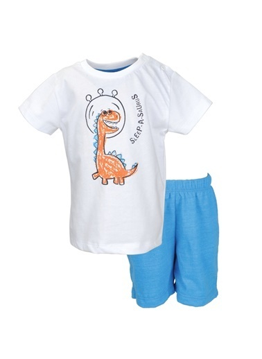 Zeyland Beyaz Dinazor T-shirt ve şort Takım (9ay-7yaş) Beyaz Dinazor T-shirt ve şort Takım (9ay-7yaş) Beyaz